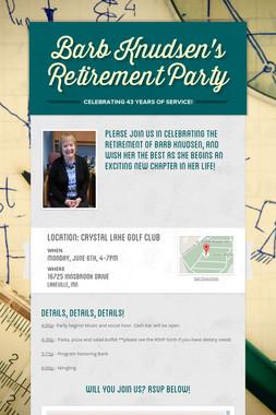 Barb Knudsen's Retirement Party