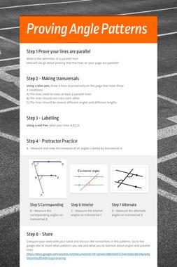 Proving Angle Patterns