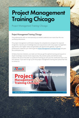 Project Management Training Chicago