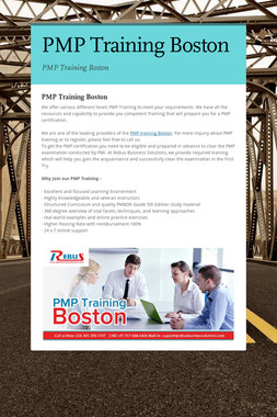 PMP Training Boston