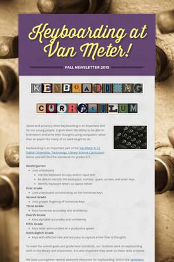 Keyboarding at Van Meter!