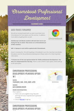 Chromebook Professional Development