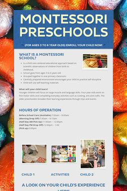 Montessori Preschools
