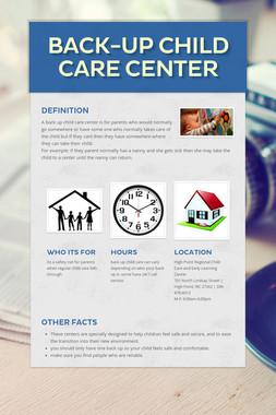 Back-up child care center