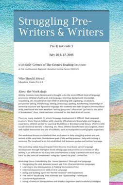 Struggling  Pre-Writers & Writers