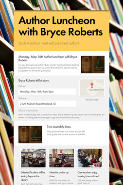 Author Luncheon with Bryce Roberts
