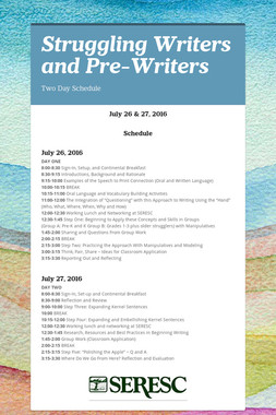 Struggling Writers and Pre-Writers
