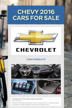 Chevy 2016 Cars For Sale