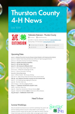 Thurston County 4-H News