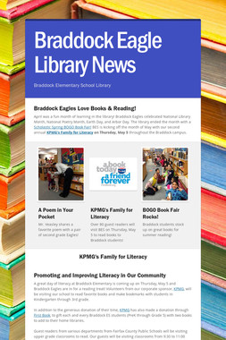 Braddock Eagle Library News