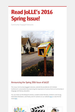 Read JoLLE's 2016 Spring Issue!