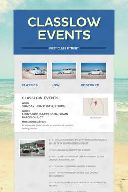 CLASSLOW events
