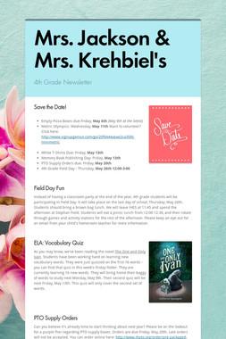 Mrs. Jackson & Mrs. Krehbiel's