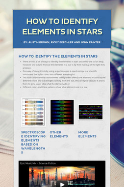 How to identify elements in stars