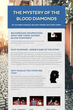 The Mystery of the Blood Diamonds