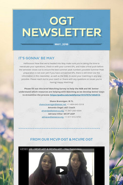 oGT Newsletter