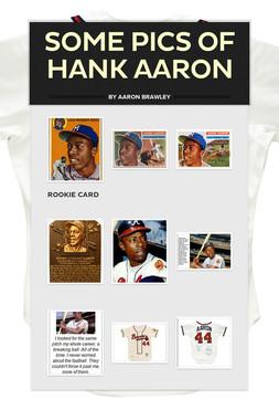 Some Pics of Hank Aaron