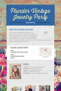 Plunder Vintage Jewelry Party
