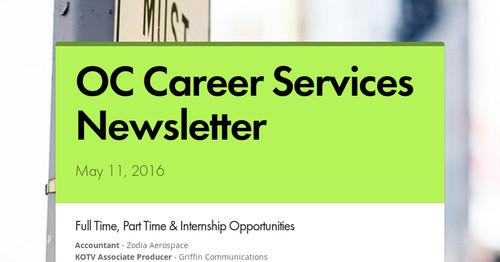 OC Career Services Newsletter | Smore Newsletters
