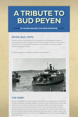 A Tribute to Bud Peyen