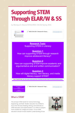 Supporting STEM Through ELAR/W & SS