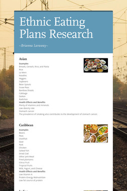 Ethnic Eating Plans Research