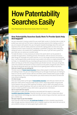 How Patentability Searches Easily