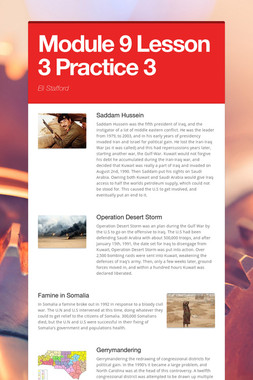 Module 9  Lesson 3 Practice  3