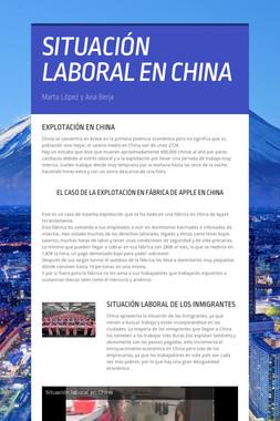SITUACIÓN LABORAL EN CHINA