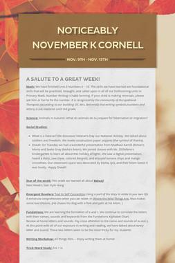 Noticeably November K Cornell