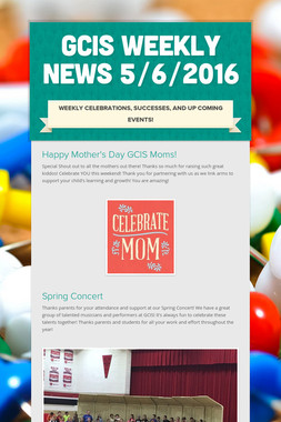 GCIS Weekly News 5/6/2016