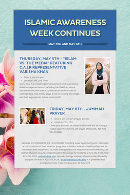 Islamic Awareness Week Continues