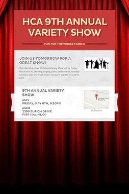 HCA 9th Annual Variety Show