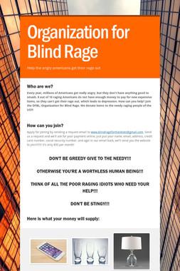 Organization for Blind Rage