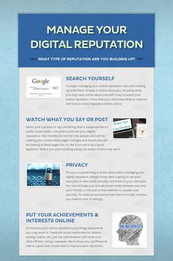 Manage Your Digital Reputation