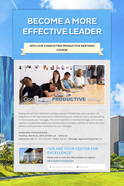 Become a More Effective Leader
