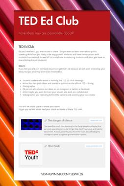 TED Ed Club