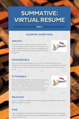 Summative: Virtual Resume