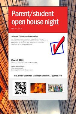 Parent/student open house night