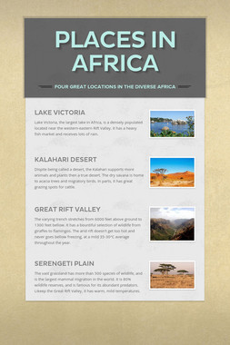 Places in Africa