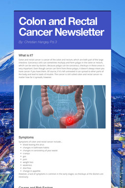Colon and Rectal Cancer Newsletter