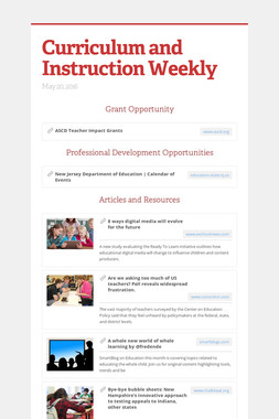 Curriculum and Instruction Weekly