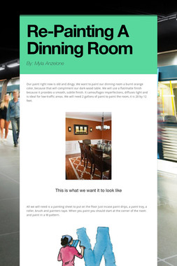 Re-Painting A Dinning Room