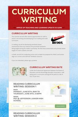 Curriculum Writing
