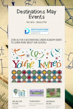 Destinations May Events