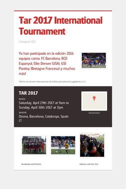 Tar 2017 International Tournament