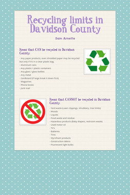 Recycling limits in Davidson County