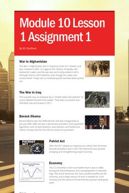 Module 10 Lesson 1 Assignment 1