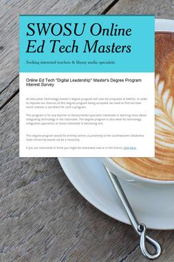 SWOSU Online Ed Tech Masters