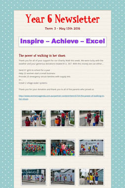Year 6 Newsletter